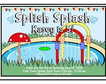 Custom Splash Pad Invitations