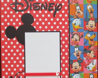 12X12 Double Page Disney Layout