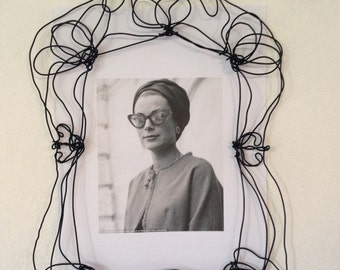 Wire wall frame - metal picture frame - Handmade molded metal frames