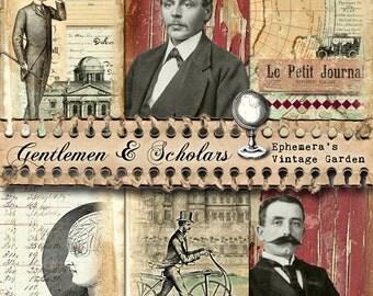 Gentlemen & Scholars - Printable Journal Kit