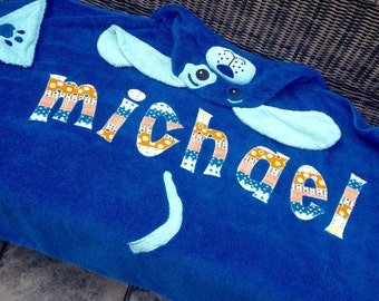 Puppy Personalized Hooded Towel