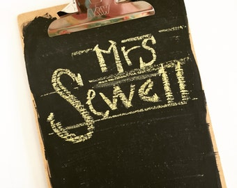 NEW NEW NEW*** Chalkboard Clipboard Sign - Rustic & Natural - Perfect for Gifts, Signs, to-do lists and More!  Super fun clip board trend