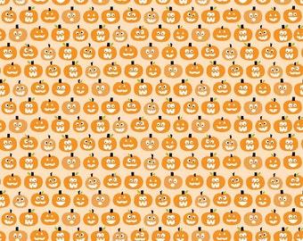 Halloween Magic Glowing Pumpkins in Orange, Bella Blvd, Stephanie Hunt, Riley Blake Designs, 100% Cotton Fabric, GC4615-ORANGE