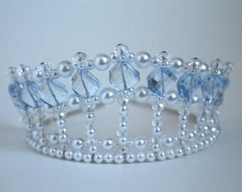 Pretty Blue Diva Tiara, Birthday Tiara, Princess Tiara