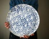 Large ceramic plate - Cheese ceramic plate - Serving ceramic plate / Plateau de fromage - plateau de service- artetmanufacture