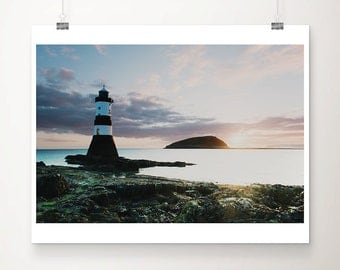 lighthouse photograph penman point photograph ocean photograph anglesey photograph sunrise photograph wales photograph