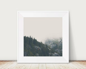 mountains photograph woodland photograph Lake Tahoe photograph tree photograph California photograph fog photograph mountains print