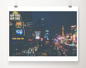 las vegas photograph the strip photograph las vegas print travel photography night photograph hotel photograph architecture print