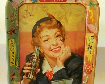 Coca Cola, Vintage Serving Tray MENU GIRL