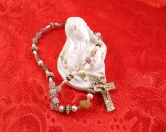 Prayer Beads and A  Cross With Jesus Just Lovely
