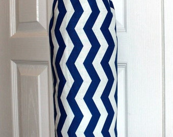 Grocery Bag Holder Dispenser Trash Bag Holder Plastic Bag Holder Kitchen Organizer Blue and White Chevron Design Wonderful Gift