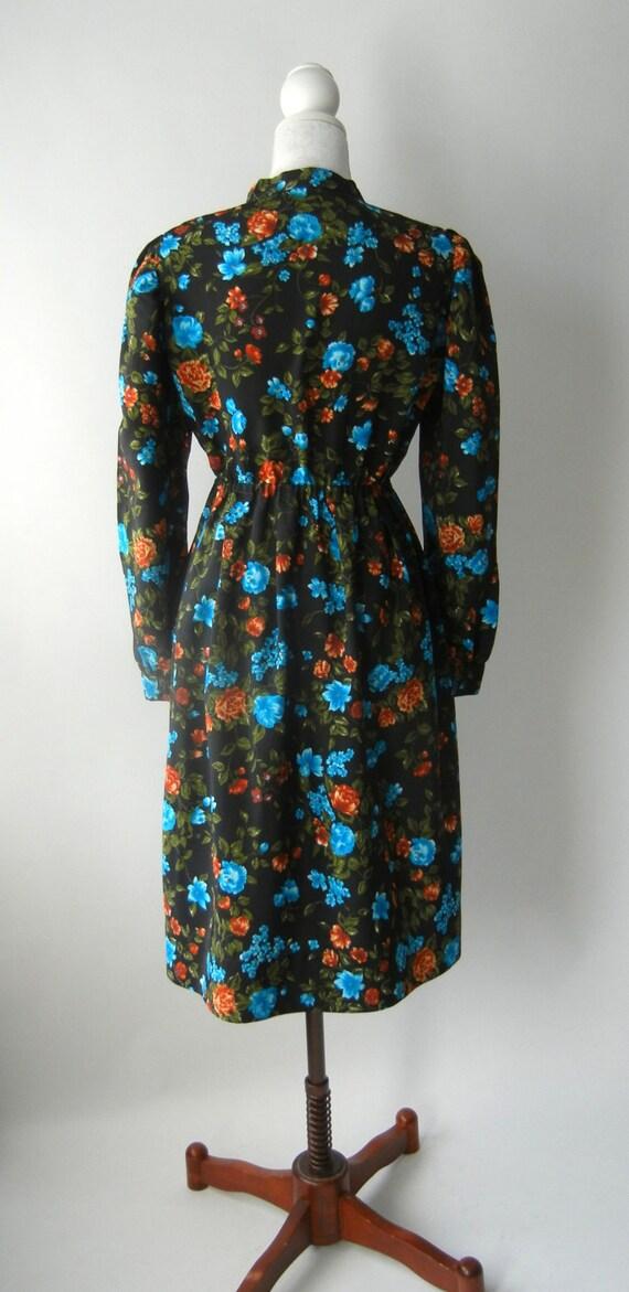 20 de r duction robe fleurs vintage ann es 80 s par slvintage - Robe vintage annee 20 ...