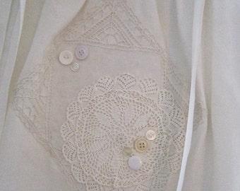White and Ivory Pillowcase Dress
