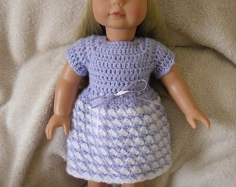 Crochet dress and hat for 18 inch American Girl Gotz doll