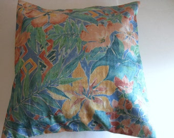 Pillow Cover Tropical Print 18 x 18