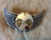 "Air Ship, Dirigible Gears, Belt Buckle, with Moving Gears, Fits 1"" 1/2"" inch Belts,"