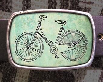 Bike Belt Buckle, Vintage Inspired 529