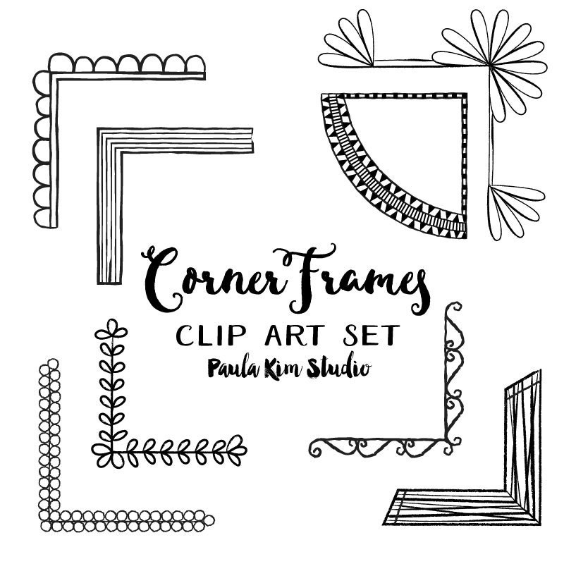 Corner Photo Frames corner frames clipart set digital frame instant download