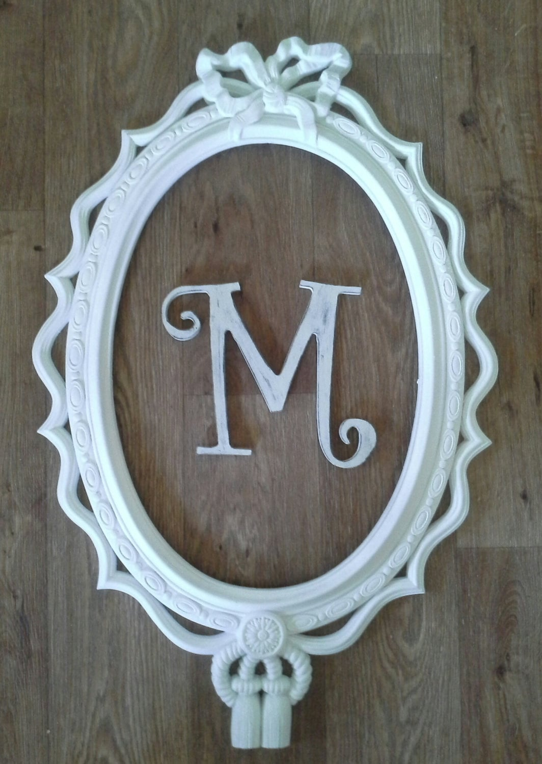 Frame oval frame custom wall decor nursery by savannahscottage - Oval wall decor ...