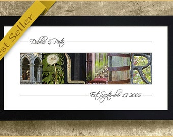 ALPHABET LETTER PHOTOGRAPHY - Personalized Name Print, Wedding Gift, Anniversary Gift