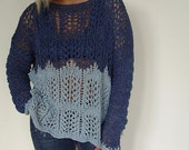 Lace Hand Knitted Sweater.