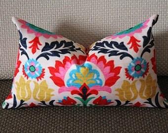Waverly Santa Maria Desert Flower & Panama Wave Lumbar Print Decorative Pillow Cover 12x18 12x20 268
