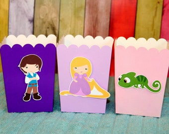 Rapunzel Princess Party Goody Boxes Set of 12