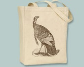 Awesome Vintage Turkey Illustration  Canvas Tote -- Selection of sizes available