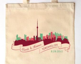 ... Wedding Guest Canvas Tote Bags - Ontario Canada Wedding Gift Bag