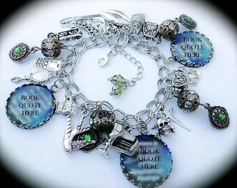 Nephilim Charm Bracelet - WereWolf - Vampire - Warlock - Fairy - Angel - Demon Hunter - Character Jewelry - Geekery- Custom Quotes Available