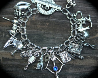 Nephilim Charm Bracelet - WereWolf - Vampire - Warlock - Fairy - Angel - Demon Hunter - Paranormal - Themed Jewelry