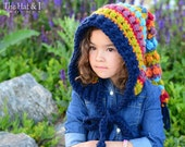 CROCHET PATTERN - Bohemian Nights Hoodie - a long tailed hoodie pattern, fairy hood pattern (Child & Adult sizes) - Instant PDF Download