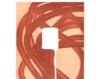 "SUMMER SALE - 40% OFF. use code { EOS40}. Etching . Rust Colored Art: ""Swatch 13"". Print Size 10.5"" x 11.5"""". unframed"