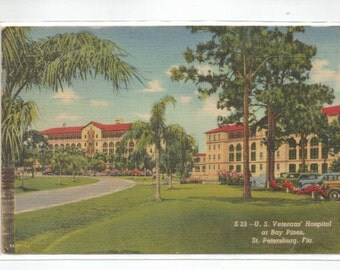 "Florida, Vintage Postcard,U.S.Veterans Hospital at Bay Pines, St. Petersburg, Fla."" 1950s, #619-2."