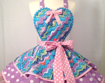 Candy Shop Apron, Ribbons of Candy - Ready To Ship