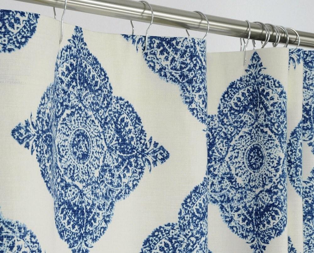78 LONG Indigo Blue Shower Curtain 72 x 78 LONG by PondLilly