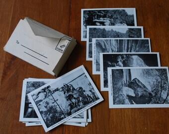 vintage Wisconsin Dells miniature postcard set - black and white photos - 1940's - souvenir