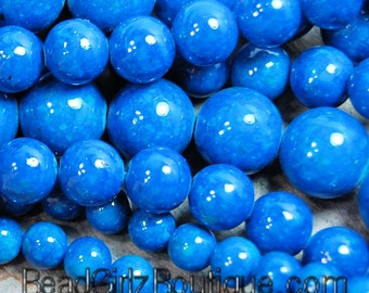 Fossil Beads -12mm Fossil Stone in Azure Blue -16 inch strand