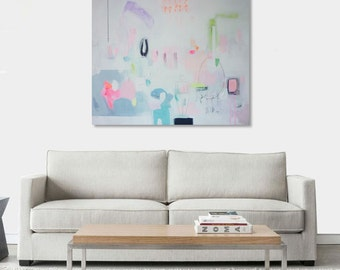 Abstract original  painting. Acrylic.  28,7 in x 23,6 in (73 cm x 60 cm )Reflex5