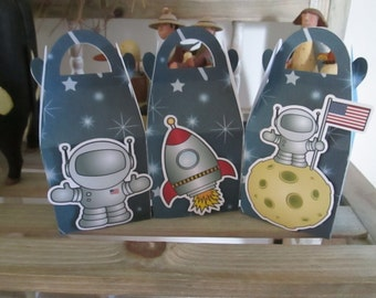 Space Favor Boxes Set of 12