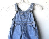 vintage baby girls DENIM jumper overalls by GUESS