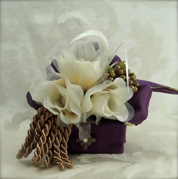 Deep Purple Wedding Favor Box Jewlery Box Wedding Gift Box