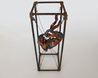 Falling Dream - Handmade Sculpture,Polymer Clay,metal