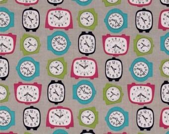 Gracie Clocks Fabric YARD