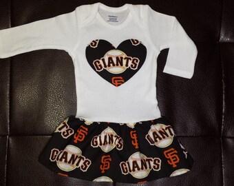 Boutique San Francisco Giants Onesie Dress