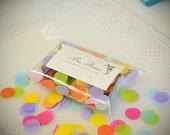 Tissue Confetti Circles Unicorn Rainbow Mix