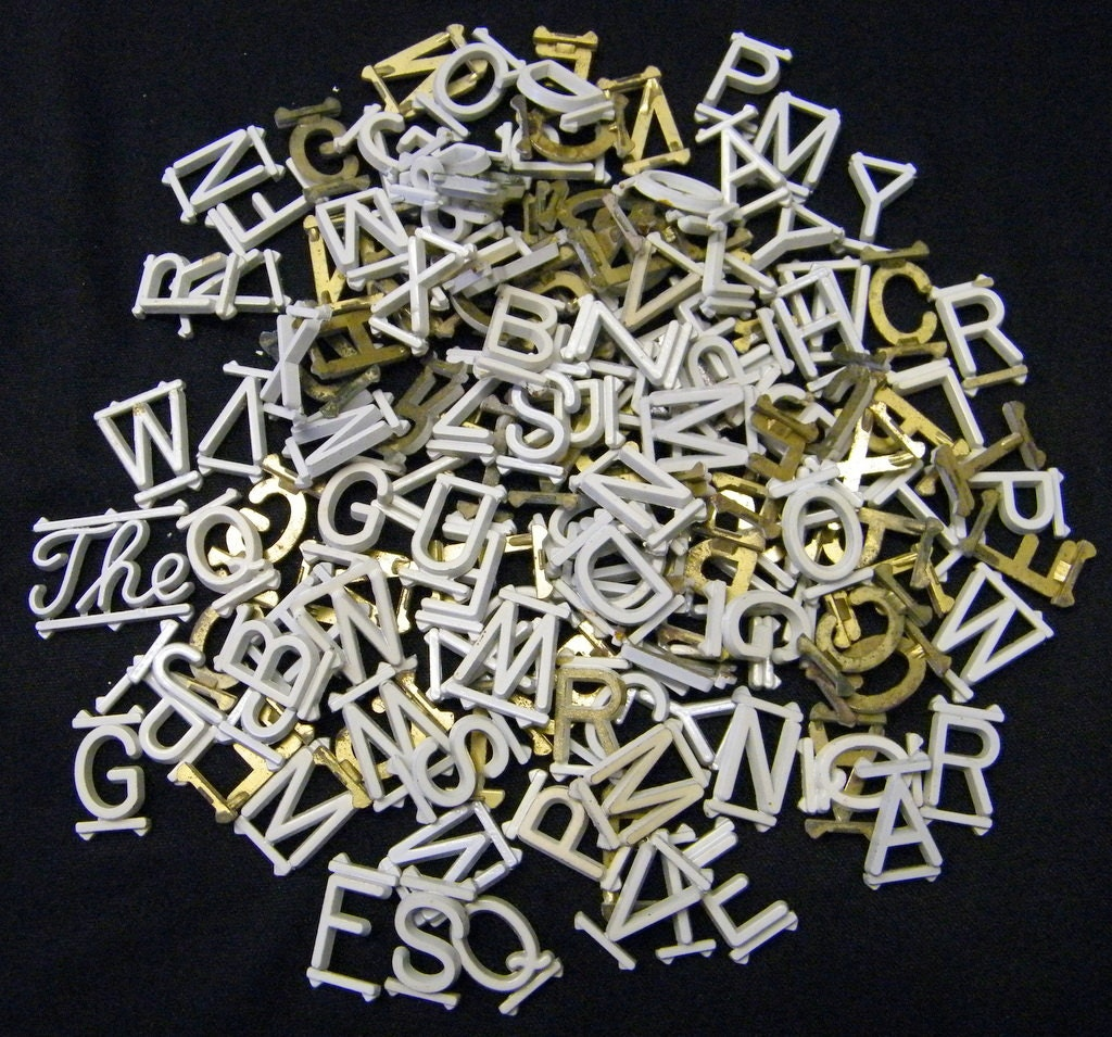 small metal alphabet letters mixed media by beneaththerust With small metal alphabet letters