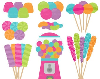 candy clip art candies clipart gumballs suckers - Candy Shoppe Digital Clip Art