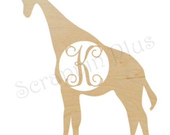 Wooden Giraffe with Laser Cut Insert
