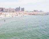 Beach Art, Ocean Photography, Beach House Wall Art, Summer Prints, New York Art, Coney Island Photography, Beach Season